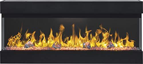 Elektrokamin Imperial 60 | Dreiseitiger Wandkamin | Elektrischer Kamin (750 W oder 1500 W) | LED Feuersimulation