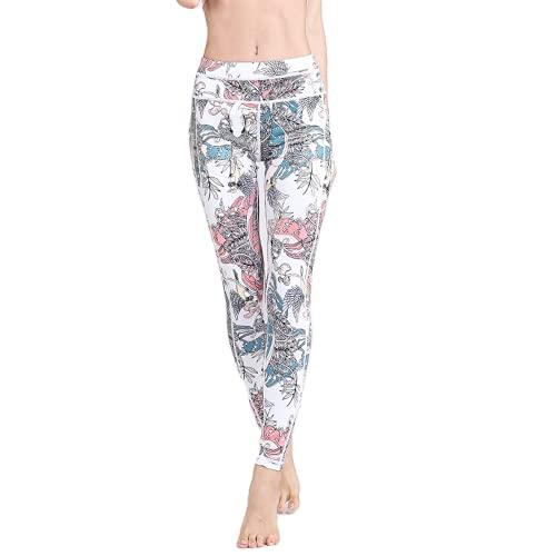QTJY Pantalones de Yoga Sexy Moda para Mujer Ropa Exterior Leggings Deportivos al Aire Libre Pantalones Deportivos de Cintura Alta Pantalones de Yoga para Fitness B S