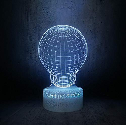 Bombilla redonda de color de luz de noche ordinaria de la lámpara de escritorio de los niños decoración de la habitación de la fiesta, iluminación del teléfono de control remoto Bluetooth colores