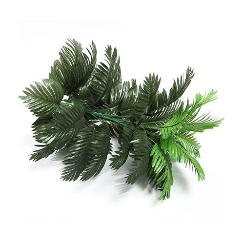 RRTYA Palmera tropical de 90 cm, plantas artificiales grandes, falso Monstera, hojas de palma de seda, árbol de coco grande sin maceta para decoración del hogar y jardín (G,90 cm, 39 hojas)