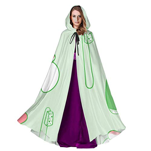 Toothbrush and Toothpaste Mens Hood Cloak Hooded Cloaks 59inch for Christmas Halloween Cosplay Costumes