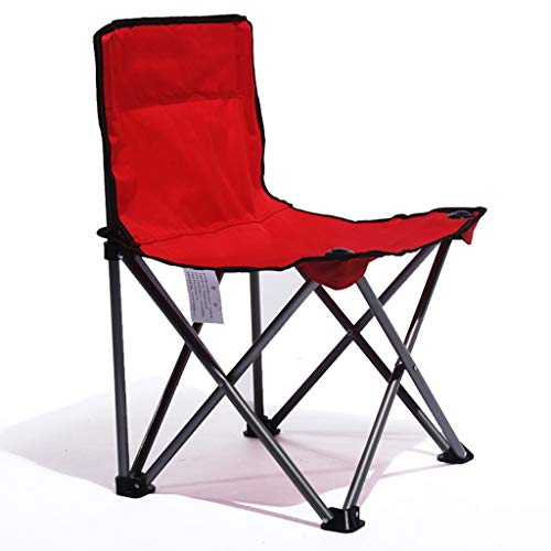 Meuble S Chaise Pliante Art Étudiant Chaise Pliante Chaise Loisir Léger Et Compact Facile À Transporter Pliable Portable Simple Et Pratique Poids 100kg (Color : Red, Size : 40 * 44 * 73cm)