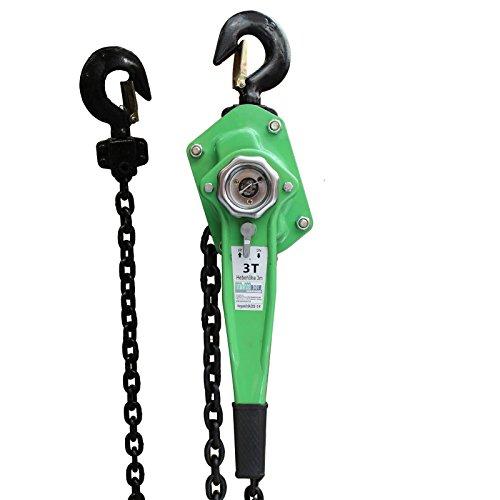 TrutzHolm® 0,75t 1,5t 3t 6t 3m Kettenlänge Ratschenzug Kettenzug Hebezug Hebelzug Flaschenzug verschiedene Modelle (3000 kg)