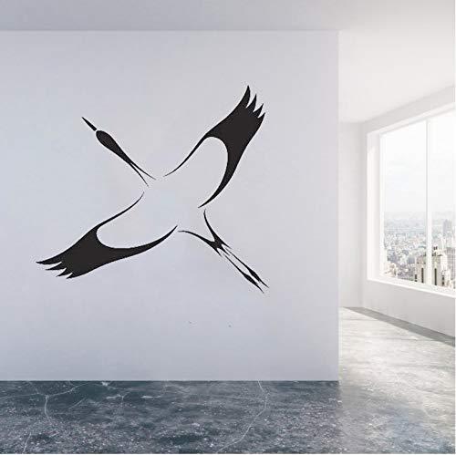 Storch Vogel Wandtattoos Symbol Glück Lange Lebensdauer Vinyl Wandaufkleber Einzigartiges Geschenk Wohnkultur Wohnzimmer Klassenzimmer Aufkleber 42X47 Cm