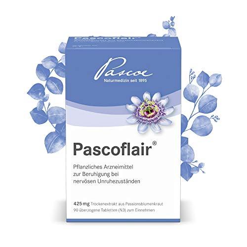 Pascoe® Pascoflair: 425 mg konzentrierter Extrakt pro Tabl. entspricht 4250-6375 mg Passionsblume (Tagesdosis) - bei nervöser Unruhe, z.B. durch Stress - erste Effekte nach 30 min. (90 Tabletten)