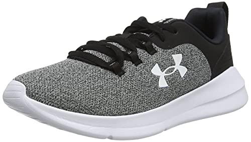 Under Armour Essential, Zapatillas para Correr de Carretera Mujer, Black/White/White (001), 38 2/3 EU