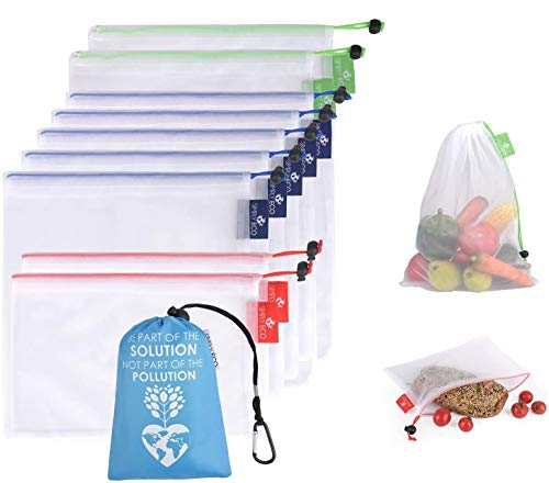 Simply Eco Reusable Bags - Zero Waste & Color-Coded Mesh Produce