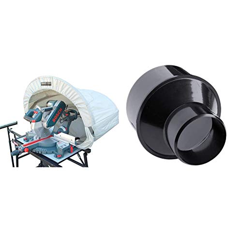 Rousseau 5000 Dust Solution for Miter Saws, Silver & POWERTEC 70136 4-Inch to 2-1/2 Inch Cone Reducer
