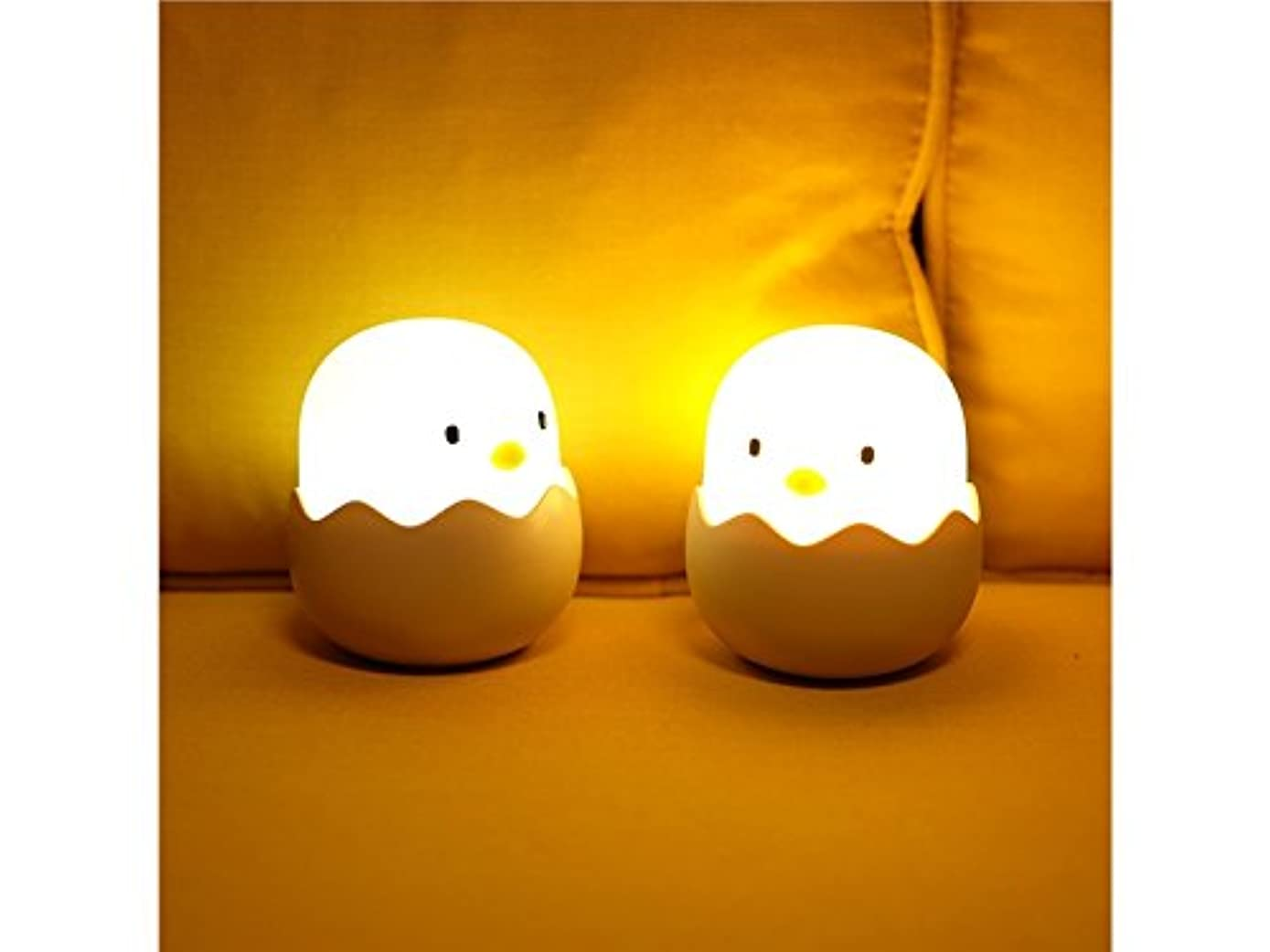 Wetietir Creative LED Chick Night Light for Kids Baby Child Night Light Tumbler Nursery Bedside Lamp USB Rechargeable Touch Control Lamp for Gift