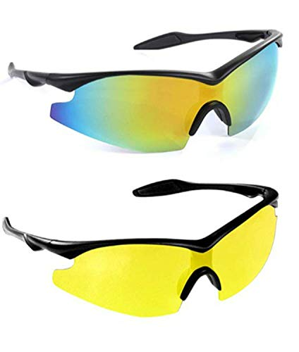 TAC GLASSES by Bell+Howell Sports Polarized Sunglasses for Men/Women 2 Pack