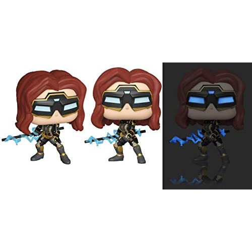 Funko- Pop Marvel: Avengers Game-Black Widow (Stark Tech Suit) w/GW Chase (Edizione Speciale) Figura da Collezione, Multicolore, 47813