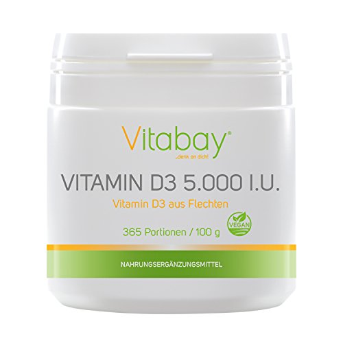 vitabay Vitamina D3 5.000 UI, 365 Porzioni