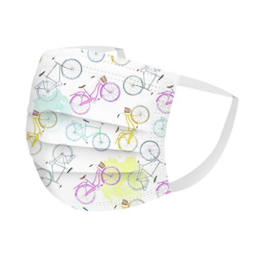 linhanzi Men Women Disposable Face_Mask Cute Printed Breathable 3D Face_Covering 3 Layers Ear Loop Mouth Bandanas