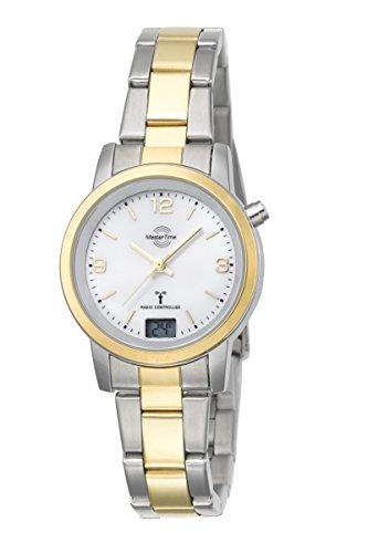 Master Time Funk Quarz Damen Uhr Analog-Digital mit Edelstahl Armband MTLA-10305-12M