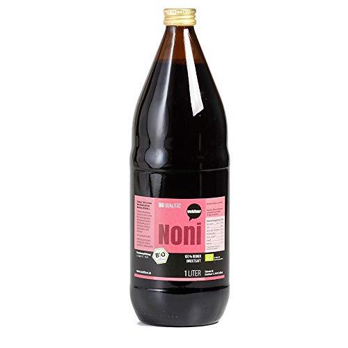 6 Flaschen a 1l Noni Frischpflanzensaftsaft in Bio Qualität, 100 % Direktsaft in der Glasflasche