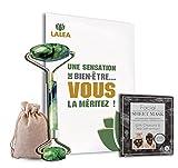 rouleau de jade et Masque hydratant visage en feuille, pierre veritable pour massage visage, jade...