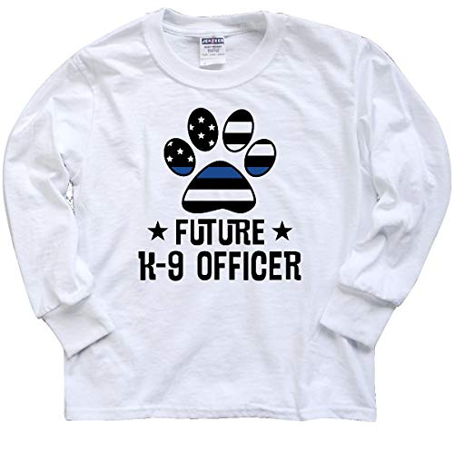 inktastic Future K9 Police Officer Youth Long Sleeve T-Shirt Youth Small White