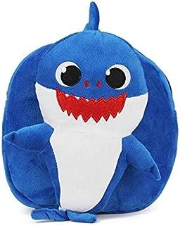 Cartoon Blue Shark Plush Animals Backpack Children Kindergarten Knapsack Soft Light Mini Plush Toys Schoolbags Birthday Gifts
