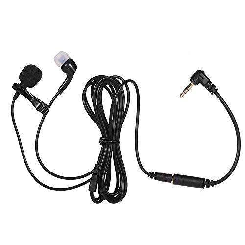 Elevea Omnidirectional Lavalier Microphone, Earphone for calls, Video Conferences Best for Youtuber,Riders
