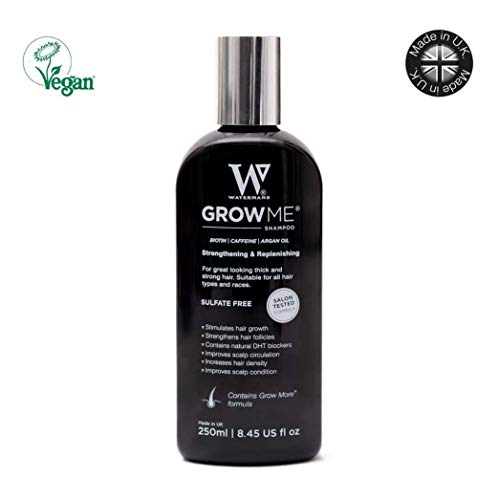 Best Hair Growth Shampoo Sulphate & Paraben Free, Caffeine, Biotin, Argan Oil, Allantoin, Rosemary. Stimulates hair growth, Great for slow growing hair - Hair growth problems for Men and Women