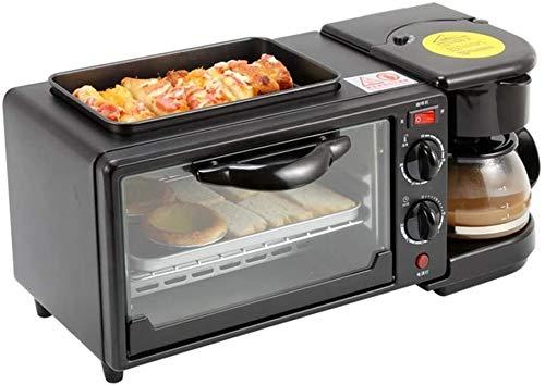 Nologo TLCC Frühstück Master-Toaster, Haus Frühstück Maschine, DREI-in-one Kaffee Ofen Toaster, Mini Elektro-Ofen, Zweirohr-Heizung Temperiergeräte Röstung, Geeignet for Kaffee, Spiegelei xjdmg