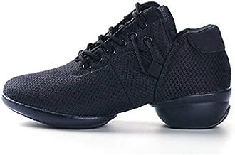 SAGUARO Women's Mesh Jazz Shoes Lady Girls Hard Split-Sole Ballet Shoes Dance Sneakers Ballroom Outdoor, Black