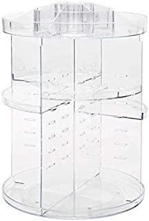 Makeup Organizer, 360 Degree Rotating Adjustable Cosmetic Storage Display Case with 8 Layers Large Capacity, Fits Jewelry,...