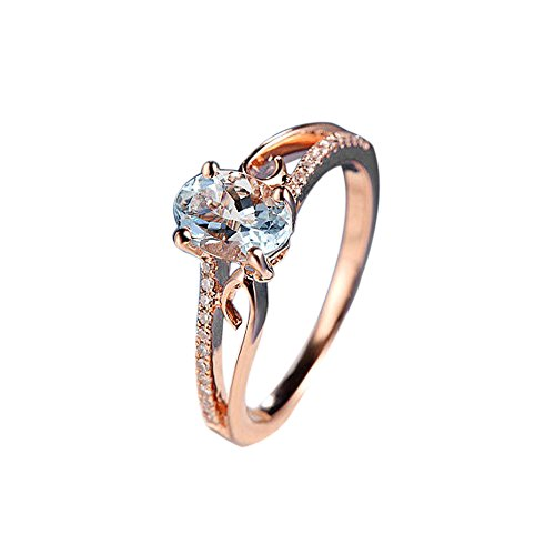 AMSKY Big Sale Engagement Wedding Rings for Women,Exquisite Women Oval Ring Diamond Jewelry Bride Engagement Wedding Ring (8)