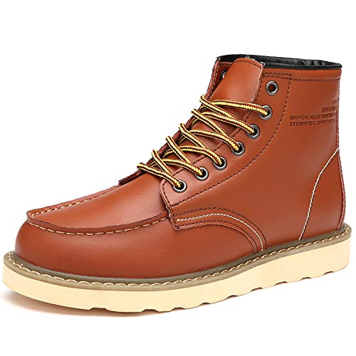 Herrenschuhe High-Top-Schuhe Herren Werkzeug Stiefel Big Head Freizeitschuhe@Khaki_43