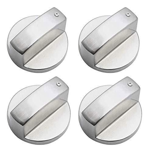 4 Pezzi Universale Pomello per fornello a gas, Universale Stufa Gas Manopole per fornelli, Metallo...