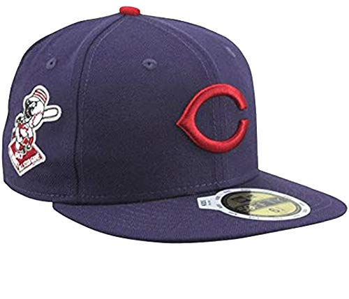 New Era MLB Cincinnati Reds 1953 Cooperstown All-Star Patch 59FIFTY Fitted Hat - Navy Blue (7)