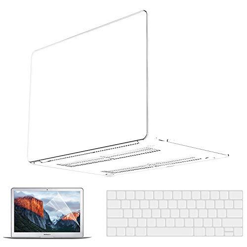 Funda transparente para MacBook Pro de 13 pulgadas 2020 2021 2019 2018 2017 2016 A2338 M1 A2251 A2289 A2159 A1989 A1708 A1706, MacBook Pro 2020 Protector de pantalla. Para MacBook Pro de 13 pulgadas.