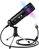 Innoo Tech PC Microphone, USB Condenser Microphone Kit, Professional Recording Plug and Play One Key Mute with Tripod...