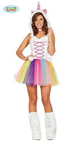 Fiestas Guirca- Costume da Unicorno Donna, Multicolore, Talla 36-38, 84537