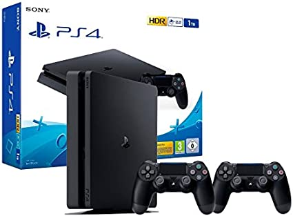 PS4 Slim 1Tb Consola Playstation 4 + 2 Mandos Dualshock 4 V2