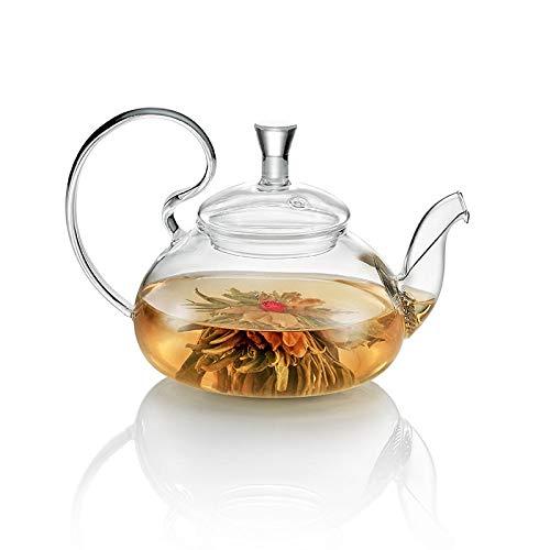TEA SOUL, Théière en Verre avec Filtre, Pot à Thé, Théière avec Infuseur,