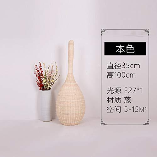 WEI-LUONG Lámpara Japonesa Creative Hotel Salón Dormitorio Decorativo lámpara Moderna lámpara de bambú del sudeste asiático Rattan Arte de la lámpara de Piso Clásico (Lampshade Color : 100cm)