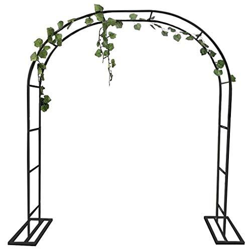XDJ Metall Hochzeitsbogen, Garten Rimming Pflanzenbogen, Verschiedene Klettermöglichkeiten Für Pflanze Garten Hochzeit Gartenbogen Braut, Einfache Montage (Schwarz, Weiß)