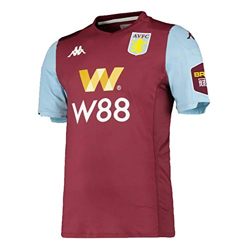 Kappa 2019-2020 Aston Villa Home Football Soccer T-Shirt Trikot