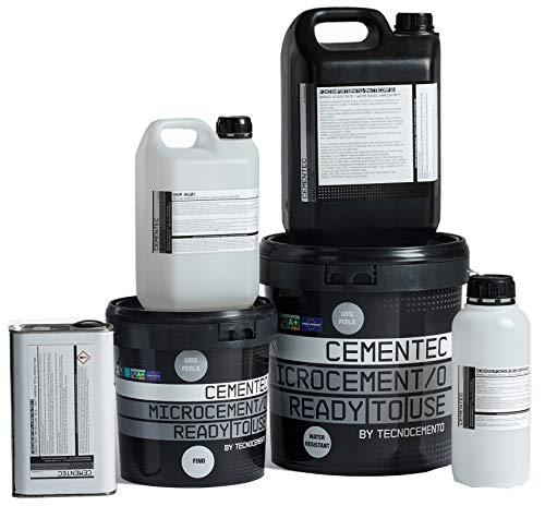 KIT 10m2 Microcemento CEMENTEC Listo al uso STANDARD Ready to use (Mate, Gris perla)