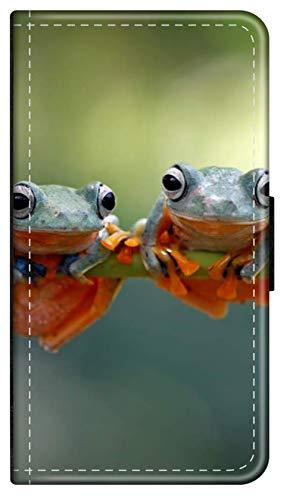 Flip Hülle Tiere Dschungel kompatibel für Samsung Galaxy A10 Frösche klein Handy Hülle Leder Tasche Klapphülle Brieftasche Etui r& um Schutz Wallet M11