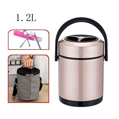Thermosfles voor etensthermosfles, soep voor warme gerechten, thermische lekbestendige levensmiddelfles met opbergtas en lepel-levensmiddelcontainer voor volwassenen.