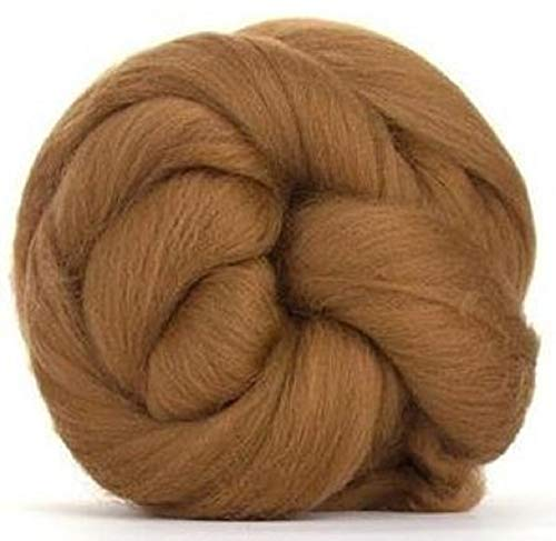 4 oz Paradise Fibers 64 Count Dyed Sienna (Brown) Merino Top Spinning Fiber Luxuriously Soft Wool Top Roving for Spinning with Spindle or Wheel, Felting, Blending and Weaving