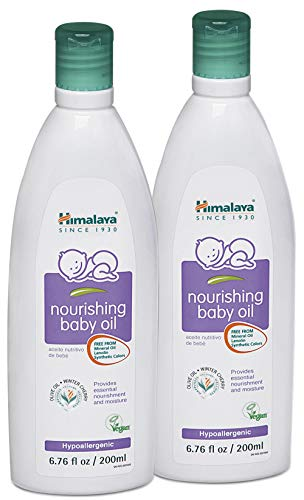 Himalaya Nourishing Baby Oil, Light & Non-Greasy for a...