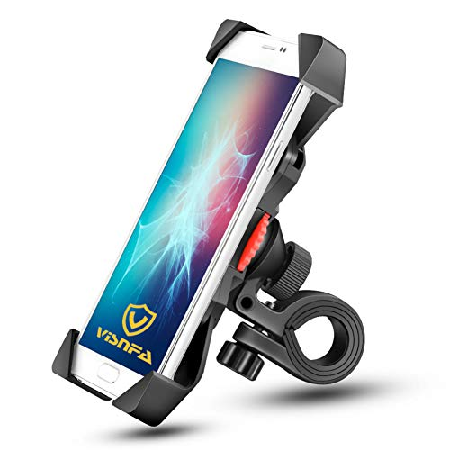 visnfa New Bike Phone Mount Anti Shake and Stable 360° Rotation Bike Accessories for Any Smartphone GPS Other Devices Between 3.5 and 6.5 inches (Black)
