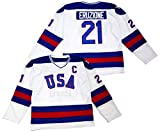 Mike Eruzione #21 1980 Miracle On Ice USA Hockey Christmas Jersey