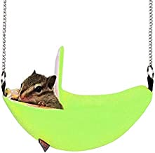 YUCHAO W4032 Hanging Swing Bed Banana Type Bed Small Nest Moon Bed for Small Animal(Green) (Color : Green)