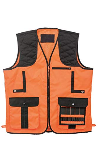 Dörr Chaleco de caza para hombre, color naranja, chaleco de tiro para caza, caza en compañía (XL)