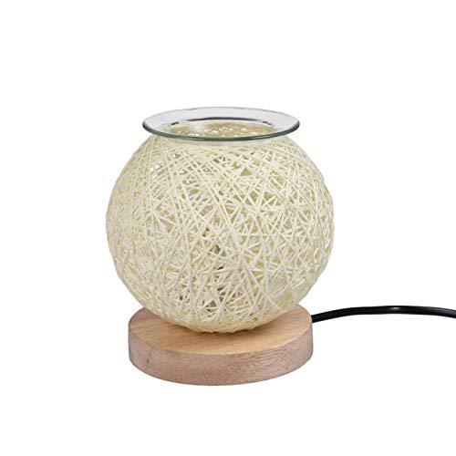 Sepak Takraw - Quemador de aceite eléctrico para derretir la cera, quemador de aceite aromático 3D, quemador de cera eléctrico, estrella 3D, lámpara aromática para decoración y dormitorio y hogar