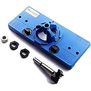 MOSILVERON 35mm Concealed Hinge Jig kit, suitable for Face Frame Cabinet Cupboard Door Hinges (Blue)